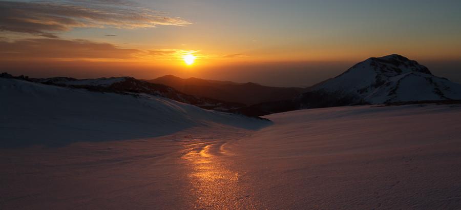 Alba dalla vetta di Monte Pollino