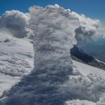 La stazione di rilevamento della temperatura al nevaio di Monte Pollino