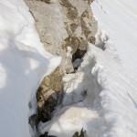 Crepaccio in prossimità delle rocce