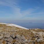 Dalla vetta di Monte Pollino, verso Monte Alpi e Monte Sirino
