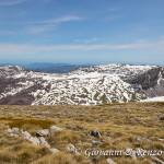 Serra di Crispo e Serra delle Ciavole separate dalla Grande Porta del Pollino