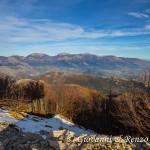 La Catena del Pollino vista dalla vetta di Monte Caramolo