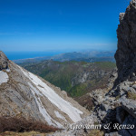 Testata del canalone che dalla vetta di Cozzo del Pellegrino precipita nella valle dell'Abatemarco