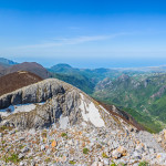 Il grandioso panorama che è possibile ammirare dalla vetta di Cozzo del Pellegrino