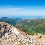 La valle dell'Abatemarco che sfocia nel Tirreno