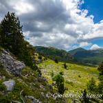Serra delle Ciavole e Serra Dolcedorme dalla Piana del Pollino