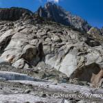 Pareti levigate dallo scorrimento del ghiacciaio