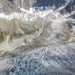 I Seracchi del Glacier du Tacul dal Refuge du Requin