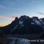 Alba sul Glacier du Tacul