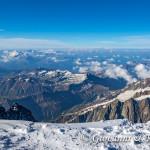 Panorama dalla cima del Monte Bianco