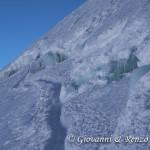 Crepacci presso il Mont Maudit