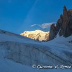 Il Monte Bianco dal Ghiacciaio del Gigante
