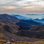 Panorama salendo alla vetta del Monte Meta