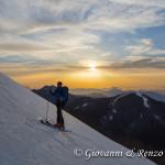 Percorrendo la cresta Nord di Serra del Prete al crepuscolo