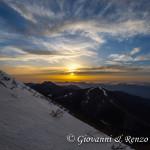 Tramonto invernale dalla cresta Nord di Serra del Prete