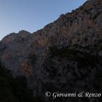 La parete SO della Timpa di San Lorenzo dal Belvedere di Barile