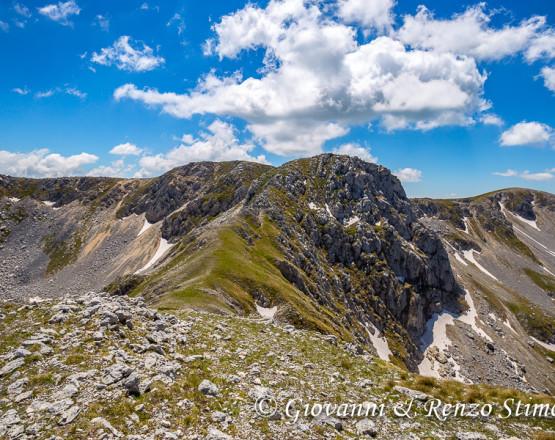 Monte Marsicano e la sua cresta Nord-Est dal Monte Ninna
