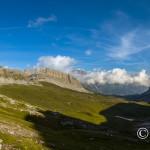 Panorama su Campo Flavona dal Passo della Gallarda