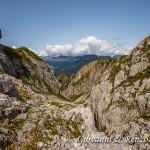 Il selvaggio canalone che immette nella Val del Vento