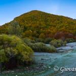 Monte Amaro di Opi dalla Val Fondillo ancora ricoperta di brina