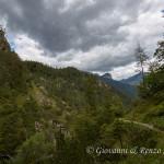 Lungo il sentiero che da Forni di Sopra conduce al Rifugio Giàf