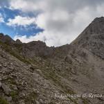 La forcella Pramaggiore ed il Monte omonimo