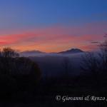 Tramonto su Monte Alpi e Sirino