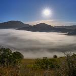 La Piana di Castelluccio nella nebbia