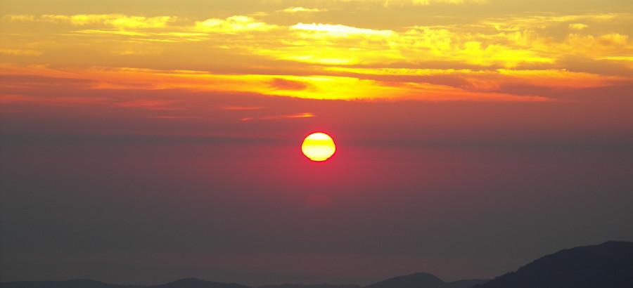 Alba sullo Ionio da Serra di Crispo
