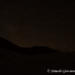 Cielo stellato e stella cadente a Piano Iannace