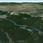 Il tracciato dell'escursione