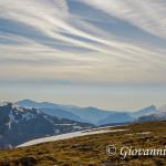 Sguardo dalla vetta di Monte Pollino verso lo Ionio