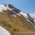 Le estetiche pareti del versante ovest di Monte Pollino