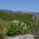 Sguardo su Serra Dolcedorme, Serra delle Ciavole e Serra di Crispo dal Belvedere di Barile