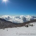 Salendo lungo la cresta Est di Monte Pollino