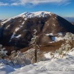 Sullo sfondo Serra del Prete