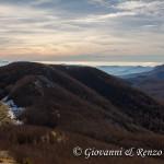 Sulla cresta sud di Monte Caramolo
