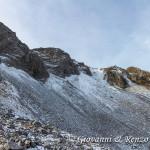 L'erto versante orientale di Monte Meta