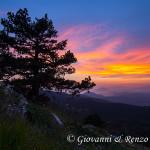 Tramonto dalla cresta nord di Serra di Crispo