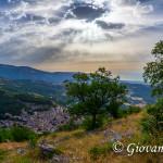 Cerchiara di Calabria dal percorso per il Santuario di Santa Maria delle Armi