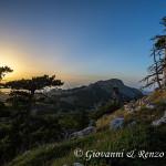 Prossimi al tramonto dalla cresta Nord di Serra delle Ciavole