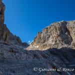 La Bocchetta dei Camosci e ciò che resta dell'omonima Vedretta