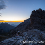 La valle dei Massodi e il Croz del Rifugio all'alba