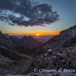 La Valle dei Massodi e il rifugio Tosa all'alba