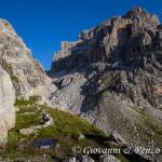 Cime di Brenta Alta e Bassa divise dalla Bocca di Brenta