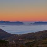 La Valle del Mercure al primo mattino