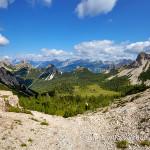 Cason di Canpuròs dalla forcella Val di Brica