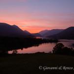 Il Lago di Barrea al tramonto