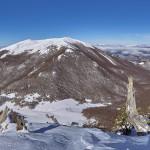 Colle Gaudolino e Serra del Prete dalla Ovest di Monte Pollino