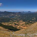 Panorama dal Monte Alpi